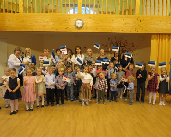 Eesti Vabariigi 102 aastapäeva tähistamine.